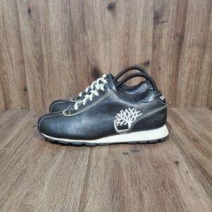 Timberland Shoes - Timberland Black Leather Tennis Shoes